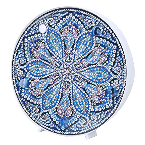 Mandala Diamond Painting Kit mit LED-Nachtlichtern DIY Diamond Painting Nachttischlampe für Home Holiday Decoration(ZXD021)
