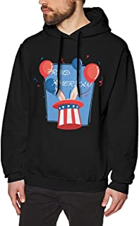 red white and blue baja hoodie