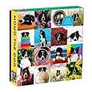 """Galison Momo The Dog Puzzle, 500 Pieces, 20"""" x 20'' – Colorful Puzzle Featuring 16 Adorable Dog Images - Thick, Sturdy Pieces - Perfect for Family Fun"""