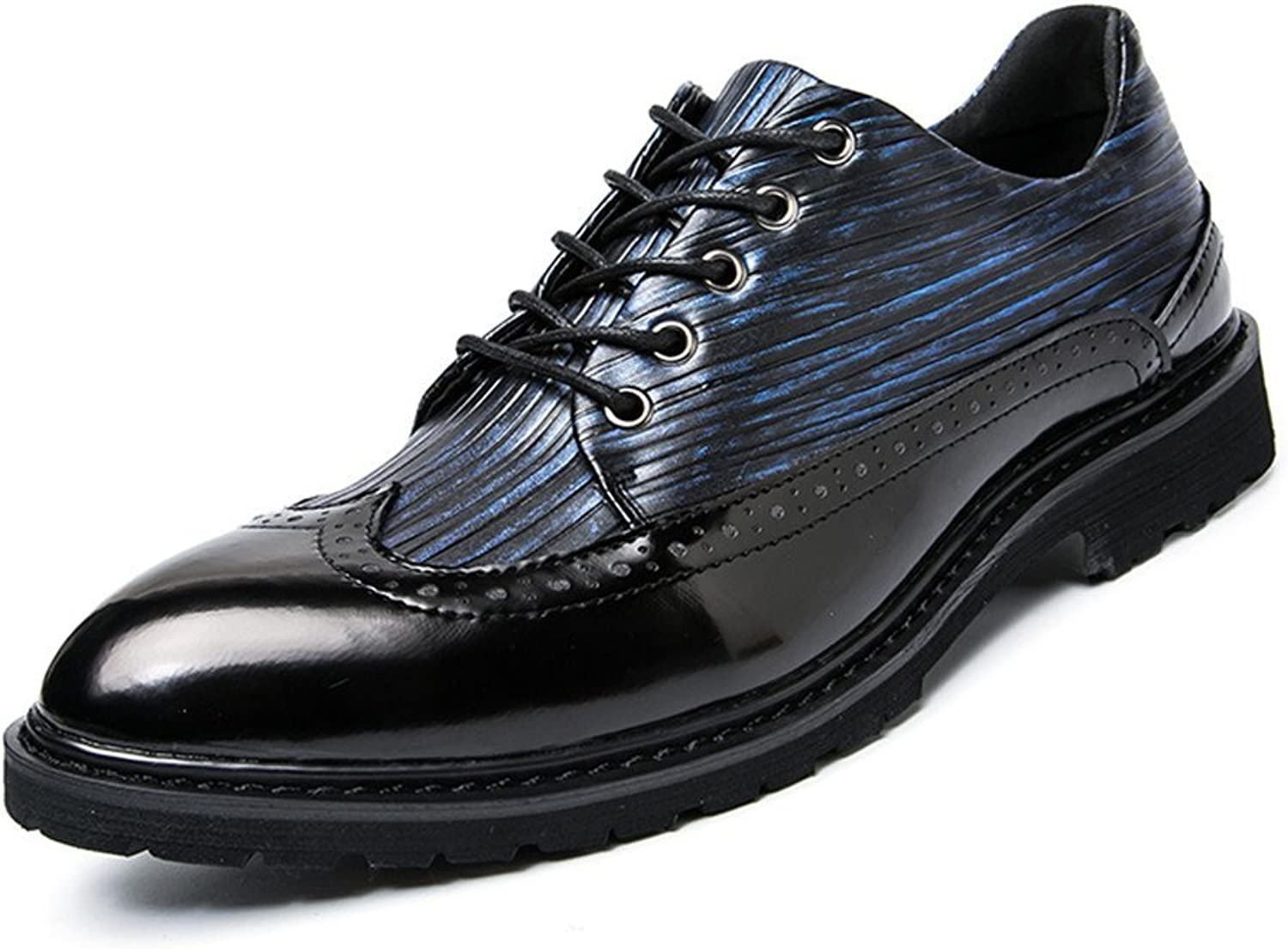 Men's Business Oxford Casual Spring and Autumn colorful Antique British Point Brogue shoes Cricket shoes