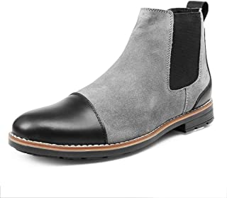 Bacca Bucci® Chelsea high end Urban Fashion Weekender Slip-on Boots Genuine Smooth Leather Suede for Men