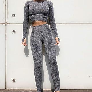 Beiziml 2 Pcs New Seamless Yoga Set Women Fitness Clothing Sportswear Woman Gym Leggings Padded Push Up Legging Sports Bra...