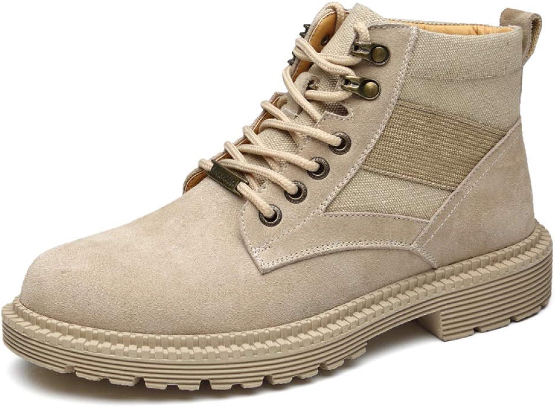 LIJUN Snow Boots Winter Men Non-slip Warmest Martin Snow Boots Nubuck Winter shoes Outdoor Travel Size:38-43,Brown-EU42 UK8.5 US9.5