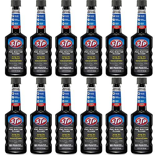 STP Fuel Injector Cleaner, Super Concentrated, Bottles, 5.25 Fl Oz, Pack of 12