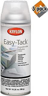 Krylon K07020007 10.25-Ounce Easy Tack Repositionable Adhesive Spray (3 Pack)