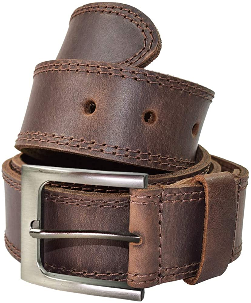 Hide Drink Men's Two Row Stitch Handmade Max 50% OFF Courier shipping free :: Belt Bour Leather