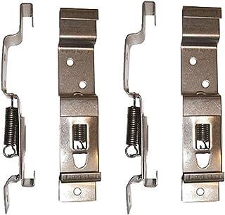 comprar comparacion BITS4REASONS - Juego de 4 soportes (2 pares) de acero inoxidable con resorte para placa de matrícula de 11 cm de profundidad