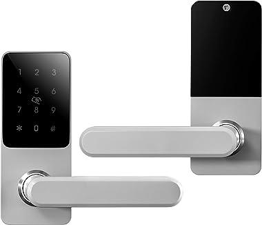 Smart Keyless Entry Deadbolt Lock for Front Door, Unlock with Digital Keypad Code, Bluetooth, IC Card, Key