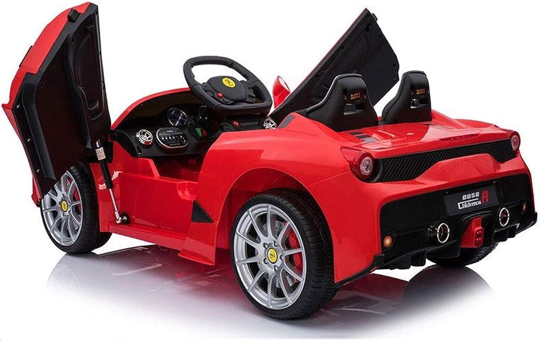 Ycco Kinder Kinder Elektro-Aufsitzauto Zwillingsmotoren mit LED-Beleuchtung Musik Kindersicherung Wei Kinder Vierrad Junge Mdchen Spielzeug kann sitzen Leute aufladen Doppelantrieb Dual Power