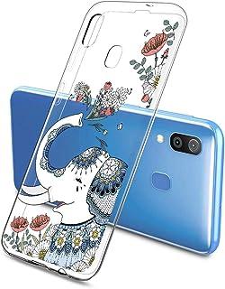Oihxse Funda Dibujos Animal Lindo Compatible Samsung Galaxy S10 5G Carcasa Transparente Clear Silicona TPU Gel Suave Case ...