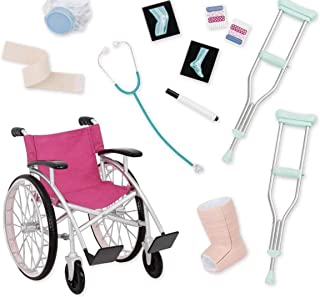 Our Generation Heals On Wheels Doll Wheelchair Accessories