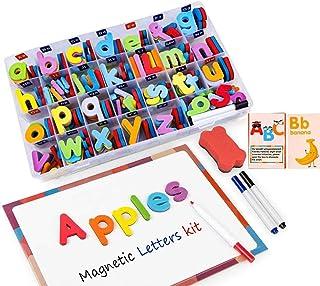 comprar comparacion Letras y Números Magnéticos para Niños -222 Letras y 20 Números y 16 Símbolos - Imanes de Nevera Juguetes Educativos para ...