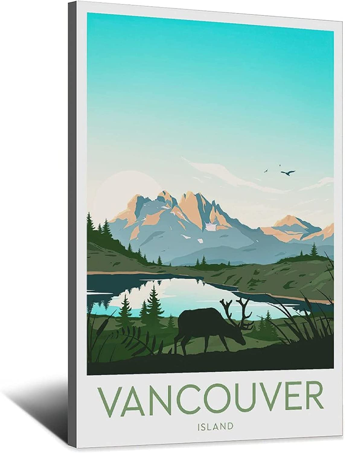 XHKJ New Shipping Free Shipping Vancouver Island NEW before selling ☆ Vintage Travel Pi Art Canvas Poster