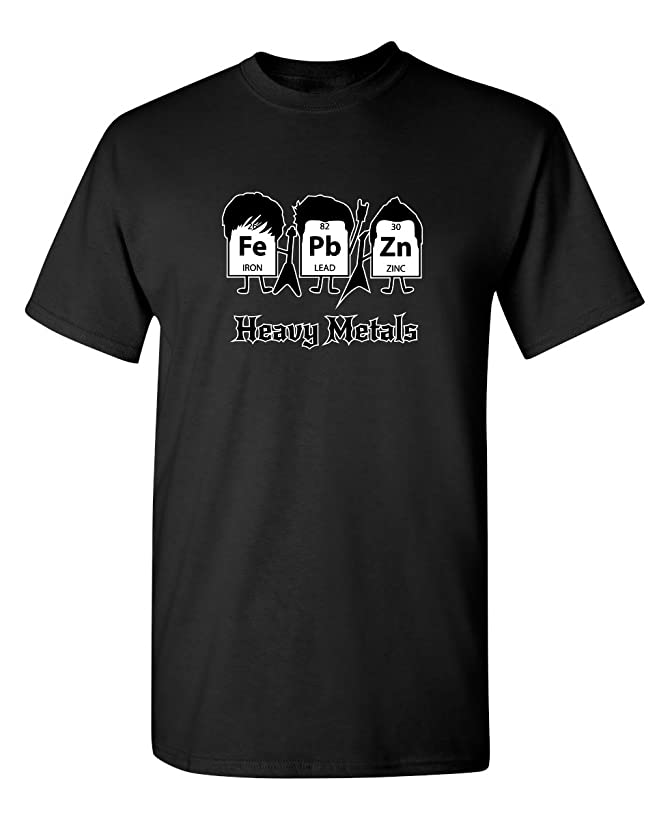Heavy Metals Adult Humor Novelty Graphic Teen Boys Sarcasm Very Funny T Shirt
