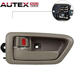 AUTEX Door Handle 91004/91008 Beige Interior Inner Front Left Driver Side Replacement Handle Compatible with Toyota Camry 1997 1998 1999 2000 2001 6927833020E0