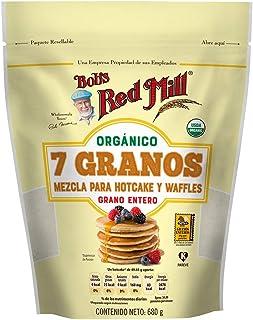 Bob´s Red Mill, Bob´s Red Mill, Mezcla orgánica para hotcakes y waffles 7 granos, 680g, 680 gramos