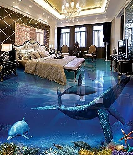 3D Beach Shell Dolphin 7 Floor WallPaper Murals Wall Print Decal AJ WALLPAPER US