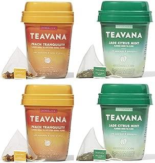 Teavana Tea Jade Citrus Mint and Peach Tranquility (2 of Each)