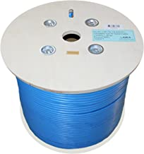 CAT7A Ethernet Cable 1000ft Shielded CMR Riser 1000MHz, S/FTP 23AWG, Solid, 100% Bare Copper, UL Certified, Bulk Cable Reel, Blue by Infinity Cable