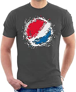 Pepsi Paint Splash Logo Men's T-Shirt