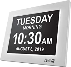 American Lifetime [Newest Version] Day Clock – Extra Large Impaired Vision Digital..