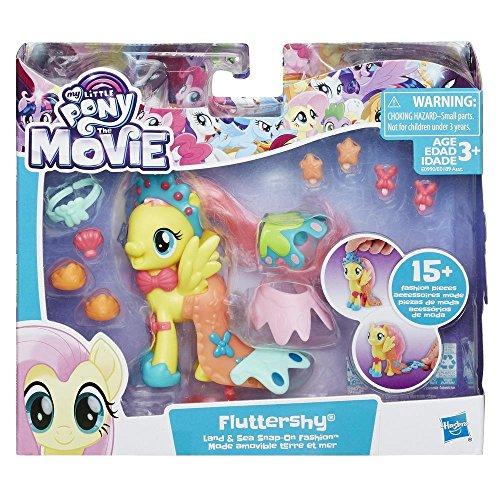 Hasbro My Little Pony Movie Land und Seepony Stylingspaß Fluttershy