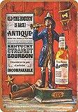 Lplpol Cartel de aluminio con cuatro rosas Kentucky Bourbon vintage de hojalata, cartel para decoración para el hogar, bar, cena, pub, 8 x 12 pulgadas, aluminio, 1 color, 12' x 18'