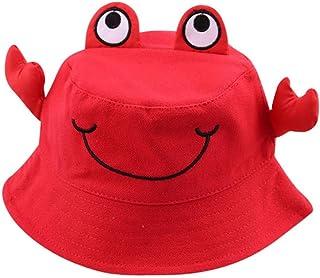 Bebé Sombrero Cangrejo Animal Protector Solar Verano Gorra niños Sombrero de Pescador para 2-5 años niñas y niños Roja Todo de Rojo
