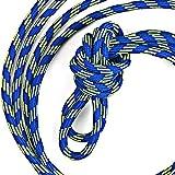 FGHOMEAQFD 1 Paire de Chaussures de Sport d'escalade en Plein air de 3,5 mm de Large Chaussures Corde de Pantalon pour Enfants Adultes Lacet Rond-Couleur Bleu/Jaune Fluorescent_130cm