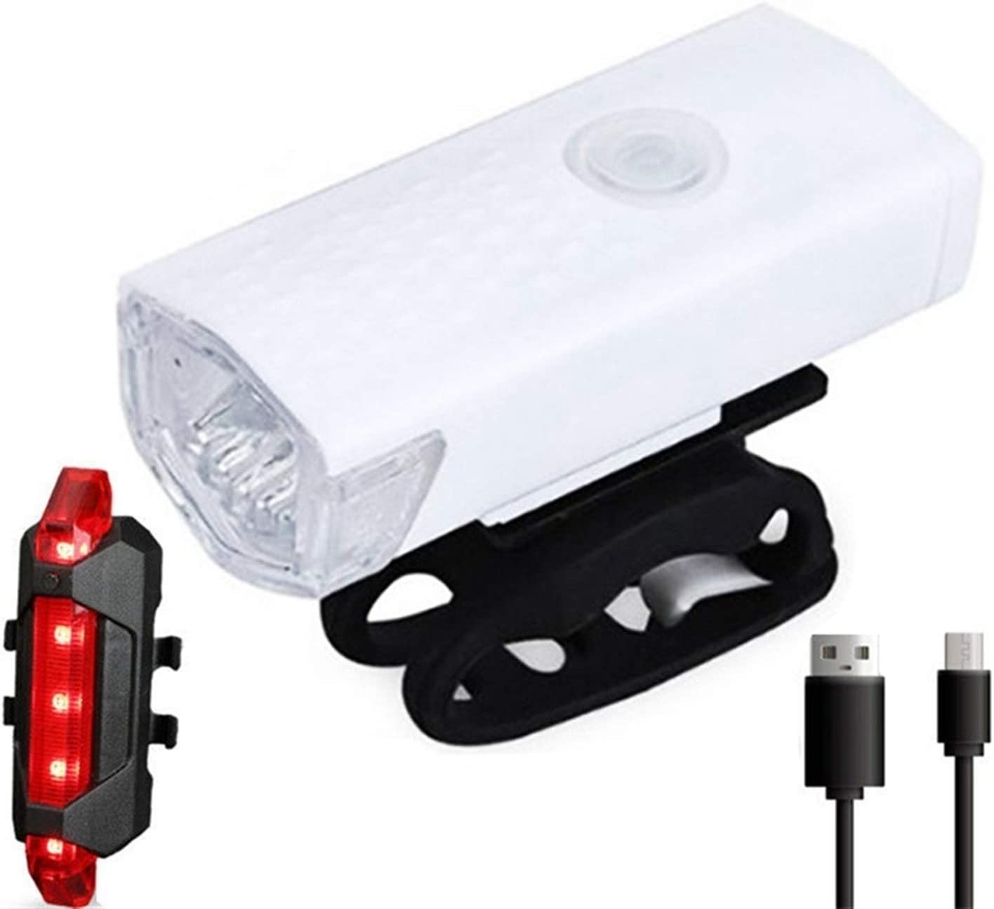 DWCA USB Bike Lights Bicycle Safety Cycling Great Bombing new work interest Rechargeable