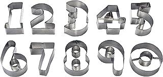 パール金属 クッキー 抜き型  数字 10個セット ステンレス製 D-3100