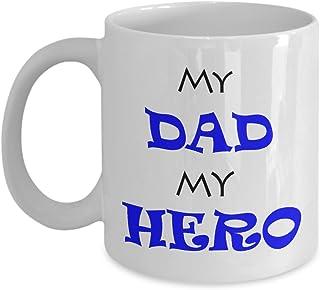 shaniztoons My Dad My Hero Novelty Gift Mug