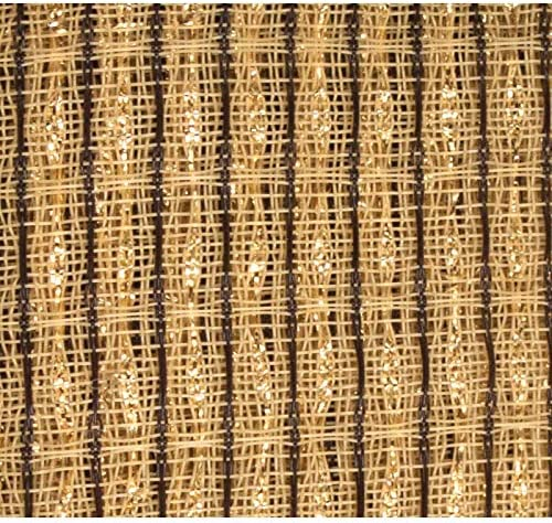 Grill Cloth Beige Brown Gold Stripe 59 Wide product image