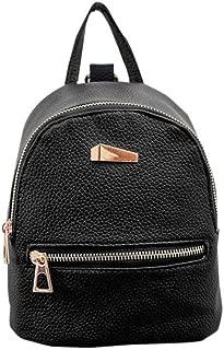Clearance! Women Teen Girls Cute PU Leather School College Backpack Mini Rucksack Purse Shoulder Handbags Satchel (Black)