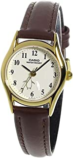 Casio Ladies LTP-1094Q-7B6 Penguin Dial with Genuine Leather Band Watch