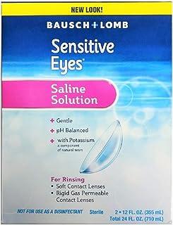 Bausch & Lomb Sensitive Eyes Plus Saline Solution, 24 Fl. Oz (Pack of 2)