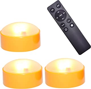 Halloween Pumpkin LED Lights with Remote and Timer Bright Flickering Battery Operated Jack-O-Lantern Electric Flameless Ca...