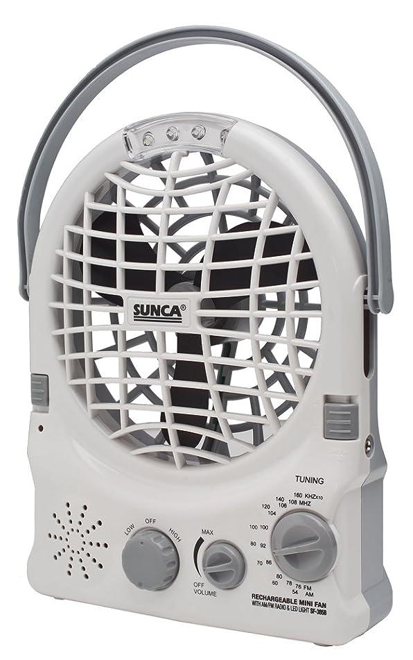 あなたは煙突日記充電式扇風機 (便利なコードレス3WAY 「扇風機 & LEDライト & AM/FMラジオ」) SF385B