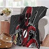 HouseDecor Best Blankets Deadpool Couverture pour lit, canapé, Chaise 50'x30'(130cmx80cm) Modèle 08