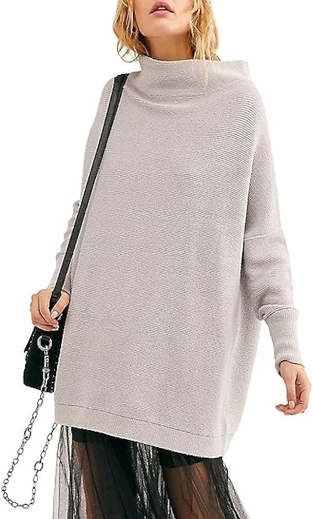 Free People Ottoman Slouchy Tunic Sweater (Grey ICE)
