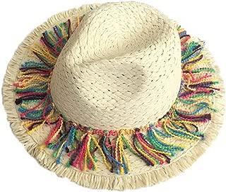 Straw Hat Beach Hat Round Cap Summer Shade Sunscreen Tassel Cap Women