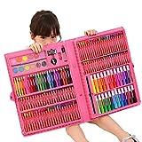 Set de plumas de pincel de acuarela de arte Suministros caja de regalo del cepillo de aprendizaje papelería arte de la pintura de Pink 238 niños lápices de colores for pintura de la escritura Regalo p