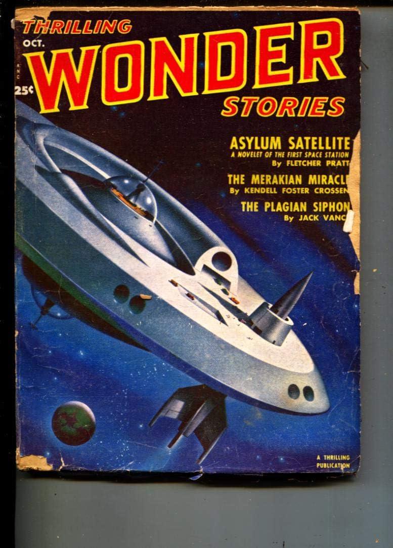 Thrilling Wonder Spring new work one after another Stories-Pulp-10 Max 52% OFF Pratt 1951-Fletcher