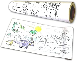 big dinosaur sketch coloring paper Roll (44cm X 30m) 80gsm, easel colouring scroll papers for kids, arts and crafts painti...