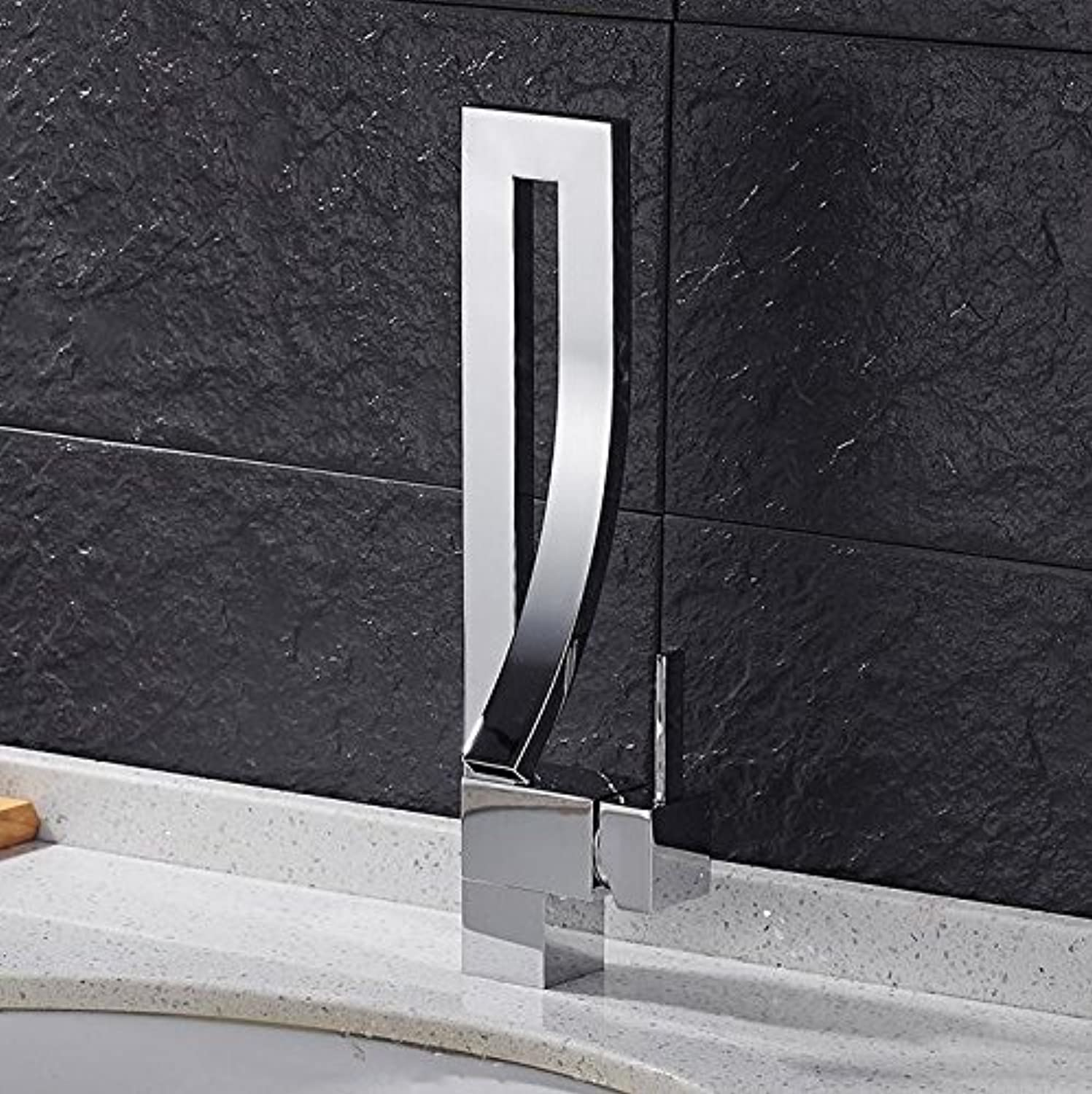 Mkkwp Basin Faucet Single Handle Waterfall Basin Mixer Tap Hot And Cold Bathroom Faucet Sink Waterfall Faucet