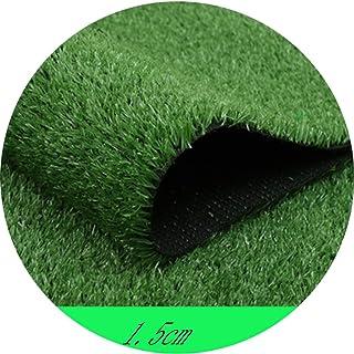 YNFNGX Dark Green Artificial Turf 15MM Grass Height Super Dense Outdoor Lawn Mat Wall Decoration Balcony/Car Show Activiti...