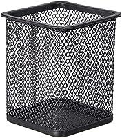 TTO Penhouder kubus van draadmetaal, zwart