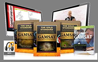 Gold Standard GAMSAT Home Study Package: 4 Books: 3 Textbooks + 10 Mock Exams Book;MP3s and OnlineVideos; GAMSAT and Interview videos; 2018-2019 Edition