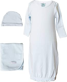 One Small Child Boys Three-Piece Bamboo Layette Set with Blanket and Hat
