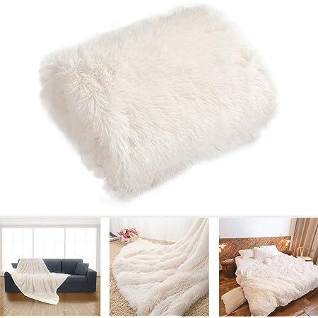 Couverture en velours flanelle super douce en polaire chaude zyurong pour enfants, flanelle, blanc, B:160*200cm